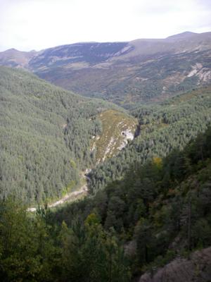 La traversée des Pyrénées en VTT - Etape 7: Vue sur le canyon du Gloces
