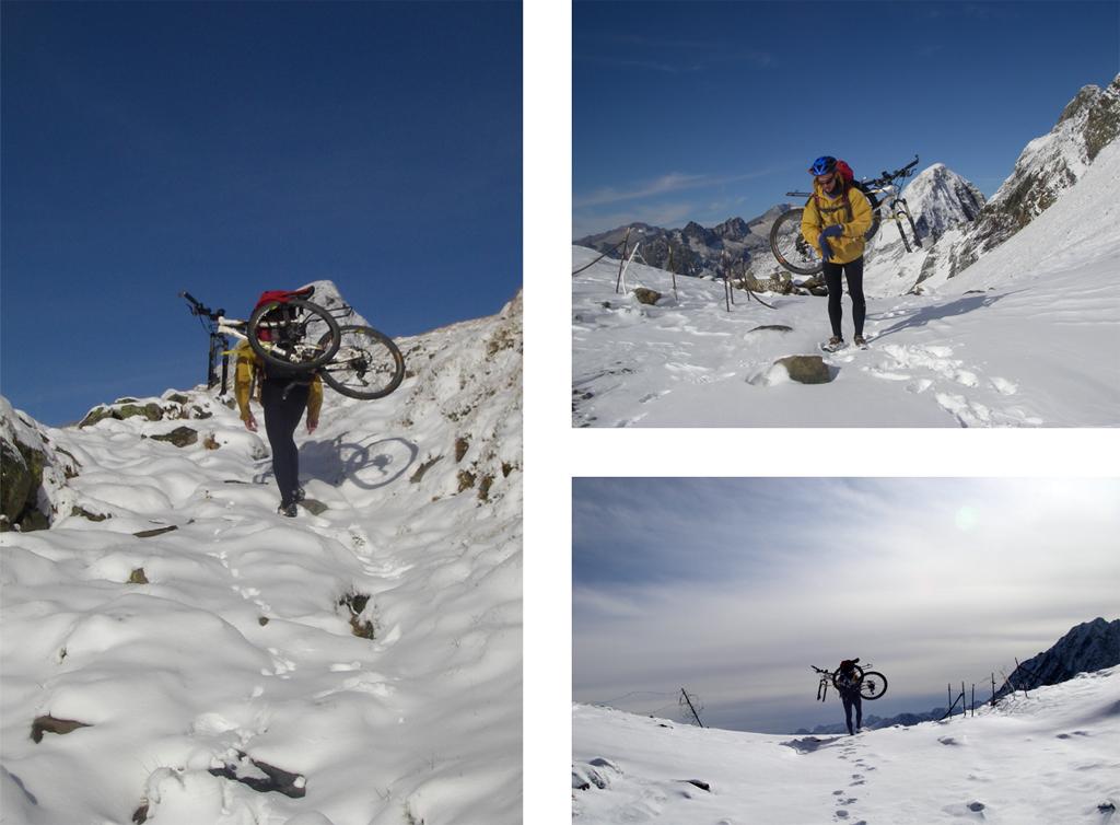 Ytaversée des Pyrénées en VTT Etape 9: Montée vers le Port de la Picade