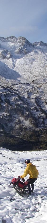 La traversée des Pyrénées en VTT Etape 9 Montée au Port de La Picade